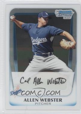 2011 Bowman Chrome Prospects #BCP89 - Allen Webster