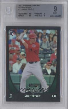 2011 Bowman Chrome Refractor #175 - Mike Trout [BGS 9]