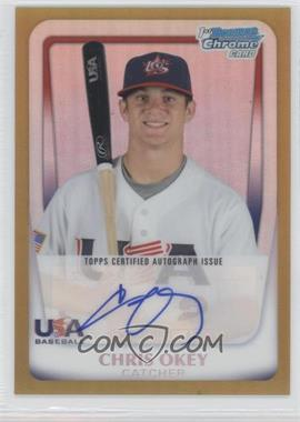 2011 Bowman Chrome USA 18U National Team Autograph Gold Refractor [Autographed] #18U - 17 - Chris Okey /50