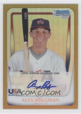 2011 Bowman Chrome USA 18U National Team Autograph Gold Refractor [Autographed] #18U - 2 - Alex Bregman /50
