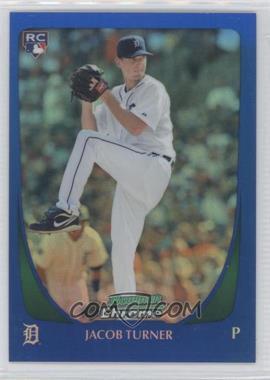 2011 Bowman Draft Picks & Prospects - Chrome - Blue Refractor #107 - Jacob Turner /199