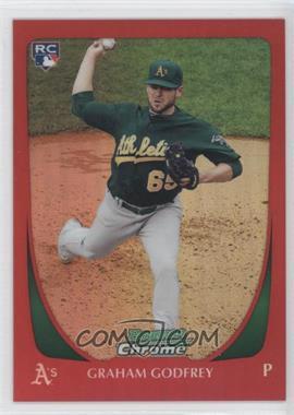 2011 Bowman Draft Picks & Prospects - Chrome - Red Refractor #39 - Graham Godfrey /5