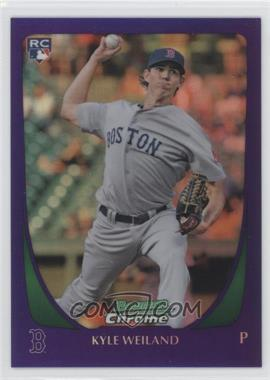 2011 Bowman Draft Picks & Prospects - Chrome - Retail Purple Refractor #102 - Kyle Weiland