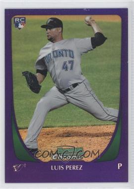 2011 Bowman Draft Picks & Prospects - Chrome - Retail Purple Refractor #69 - Luis Perez
