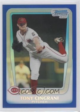 2011 Bowman Draft Picks & Prospects - Chrome Draft Picks - Blue Refractor #BDPP28 - Tony Cingrani /199