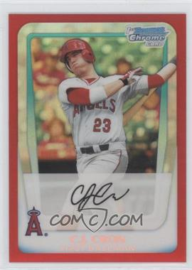 2011 Bowman Draft Picks & Prospects - Chrome Draft Picks - Red Refractor #BDPP25 - C.J. Cron /5