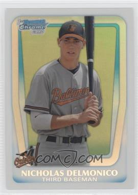 2011 Bowman Draft Picks & Prospects - Chrome Draft Picks - Refractor #BDPP26 - Nicholas Delmonico
