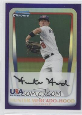 2011 Bowman Draft Picks & Prospects - Chrome Draft Picks - Retail Purple Refractor #BDPP101 - Hunter Mercado-Hood