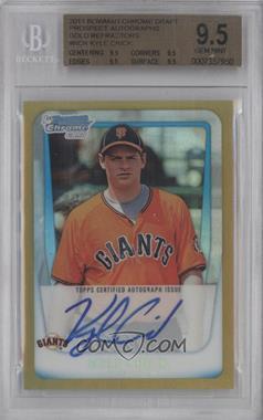 2011 Bowman Draft Picks & Prospects - Chrome Prospects Autograph - Gold Refractor #BCAP-KCR - Kyle Crick /50 [BGS9.5]