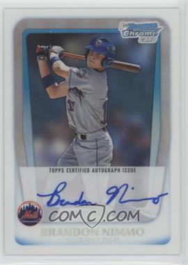 2011 Bowman Draft Picks & Prospects - Chrome Prospects Autograph - Refractor #BCAP-BN - Brandon Nimmo /500