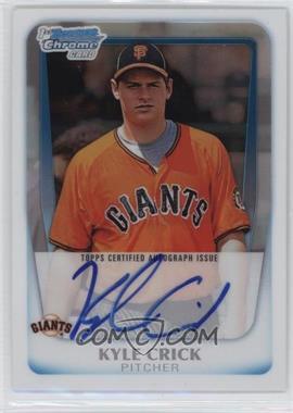 2011 Bowman Draft Picks & Prospects - Chrome Prospects Autograph - Refractor #BCAP-KCR - Kyle Crick /500