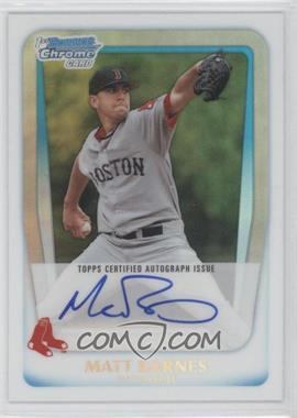 2011 Bowman Draft Picks & Prospects - Chrome Prospects Autograph - Refractor #BCAP-MB - Matt Barnes /500