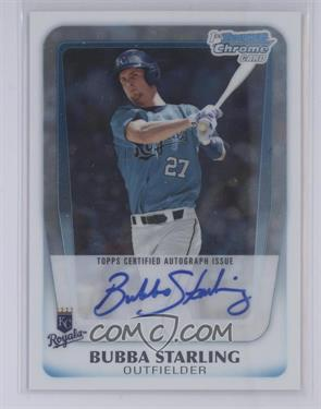 2011 Bowman Draft Picks & Prospects - Chrome Prospects Autograph #BCAP-BS - Bubba Starling [Mint]