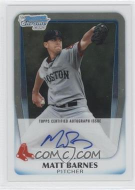 2011 Bowman Draft Picks & Prospects - Chrome Prospects Autograph #BCAP-MB - Matt Barnes