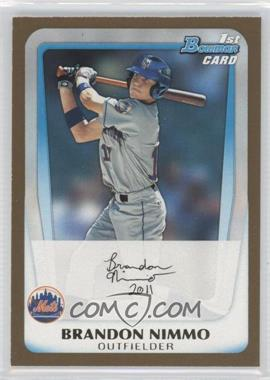 2011 Bowman Draft Picks & Prospects - Prospects - Gold #BDPP63 - Brandon Nimmo
