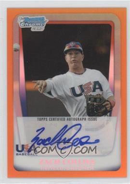 2011 Bowman Draft Picks & Prospects - USA 16U National Team Autograph - Orange Refractor #AA-ZC - Zach Collins /25