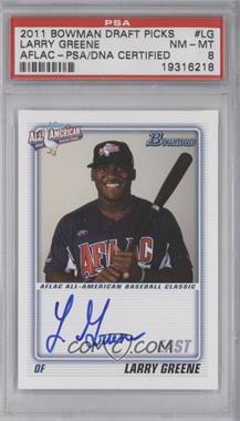 2011 Bowman Draft Picks & Prospects Aflac All-American Certified Autographs [Autographed] #AFLAC-LG - Larry Greene [PSA 8]
