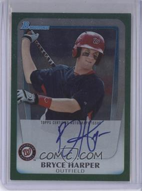 2011 Bowman Draft Picks & Prospects Bryce Harper Autographs Green [Autographed] #BPA-BH - Bryce Harper /350