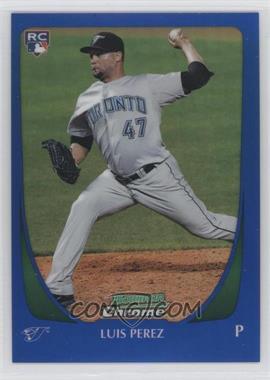 2011 Bowman Draft Picks & Prospects Chrome Blue Refractor #69 - Luis Perez /199