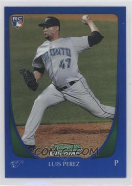 2011 Bowman Draft Picks & Prospects Chrome Blue Refractor #69 - Luis Perez /199