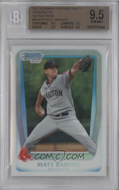 2011 Bowman Draft Picks & Prospects Chrome Draft Picks Refractor #BDPP8 - Matt Barnes [BGS 9.5]