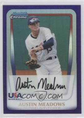 2011 Bowman Draft Picks & Prospects Chrome Draft Picks Retail Purple Refractor #BDPP100 - Austin Meadows