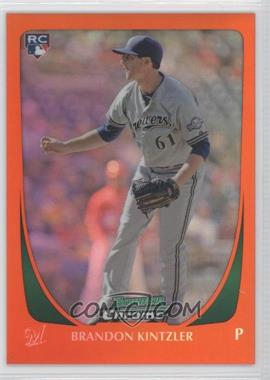 2011 Bowman Draft Picks & Prospects Chrome Orange Refractor #54 - Brandon Kintzler /25
