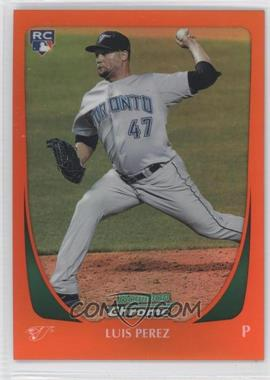 2011 Bowman Draft Picks & Prospects Chrome Orange Refractor #69 - Luis Perez /25