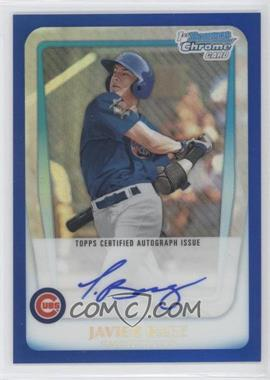 2011 Bowman Draft Picks & Prospects Chrome Prospects Certified Autographs Blue Refractor #BCAP-JBA - Javier Baez /150