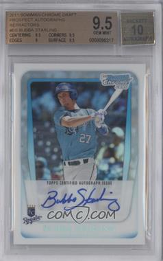 2011 Bowman Draft Picks & Prospects Chrome Prospects Certified Autographs Refractor [Autographed] #BCAP-BS - Bubba Starling [BGS 9.5]