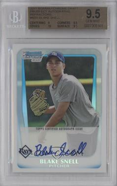 2011 Bowman Draft Picks & Prospects Chrome Prospects Certified Autographs Refractor [Autographed] #BCAP-BSN - Blake Snell /500 [BGS 9.5]