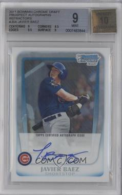 2011 Bowman Draft Picks & Prospects Chrome Prospects Certified Autographs Refractor [Autographed] #BCAP-JBA - Javier Baez /500 [BGS 9]