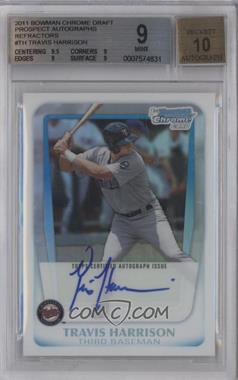 2011 Bowman Draft Picks & Prospects Chrome Prospects Certified Autographs Refractor [Autographed] #BCAP-TH - Travis Harrison /500 [BGS 9]