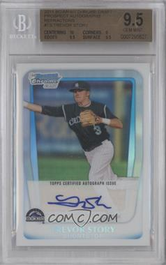 2011 Bowman Draft Picks & Prospects Chrome Prospects Certified Autographs Refractor [Autographed] #BCAP-TS - Trevor Story /500 [BGS 9.5]