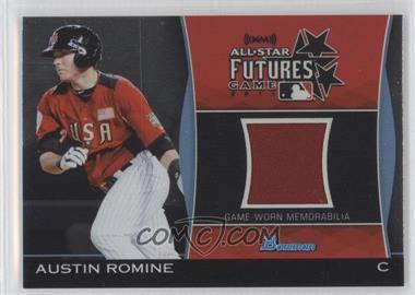 2011 Bowman Draft Picks & Prospects Futures Game Relics #FGR-AR - Austin Romine