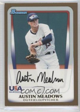2011 Bowman Draft Picks & Prospects Prospects Gold #BDPP100 - Austin Meadows