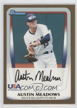 2011 Bowman Draft Picks & Prospects Prospects Gold #BDPP100 - Austin Meadows