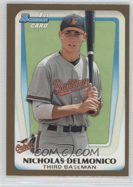 2011 Bowman Draft Picks & Prospects Prospects Gold #BDPP26 - Nicholas Delmonico