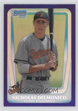 2011 Bowman Draft Picks & Prospects Retail Chrome Draft Picks Purple Refractor #BDPP26 - Nicholas Delmonico