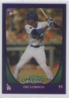 2011 Bowman Draft Picks & Prospects Retail Chrome Purple Refractor #40 - Dee Gordon