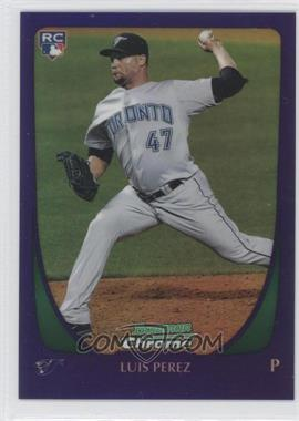 2011 Bowman Draft Picks & Prospects Retail Chrome Purple Refractor #69 - Luis Perez