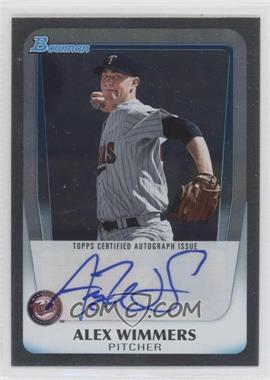 2011 Bowman Draft Picks & Prospects Retail Prospects Certified Autographs [Autographed] #BPA-AW - Alex Wimmers