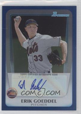 2011 Bowman Draft Picks & Prospects Retail Prospects Certified Autographs Blue [Autographed] #BPA-EG - Erik Goeddel /199