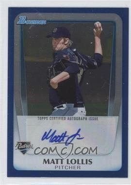 2011 Bowman Draft Picks & Prospects Retail Prospects Certified Autographs Blue [Autographed] #BPA-ML - Matt Lollis /199