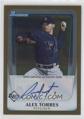 2011 Bowman Draft Picks & Prospects Retail Prospects Certified Autographs Gold [Autographed] #BPA-AT - Alexander Torres /50