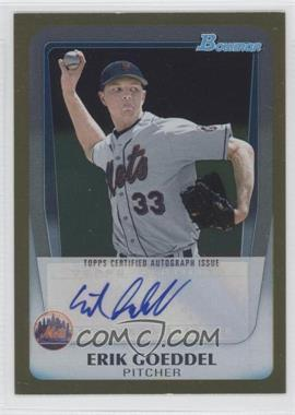 2011 Bowman Draft Picks & Prospects Retail Prospects Certified Autographs Gold [Autographed] #BPA-EG - Erik Goeddel /50