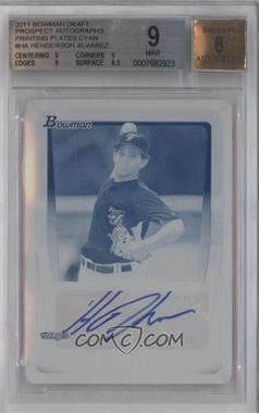 2011 Bowman Draft Picks & Prospects Retail Prospects Certified Autographs Printing Plate Cyan [Autographed] #BPA-HA - Henderson Alvarez /1 [BGS9]