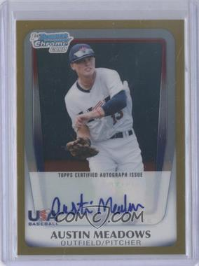 2011 Bowman Draft Picks & Prospects USA 16U National Team Certified Autograph Gold Refractor [Autographed] #AA-AM - Austin Meadows /50