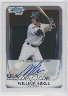 2011 Bowman Draft Picks & Prospects USA 16U National Team Certified Autograph #AA-WA - William Abreu