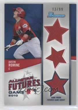 2011 Bowman Future's Game Triple Relics #FGTR-AR - Austin Romine /99